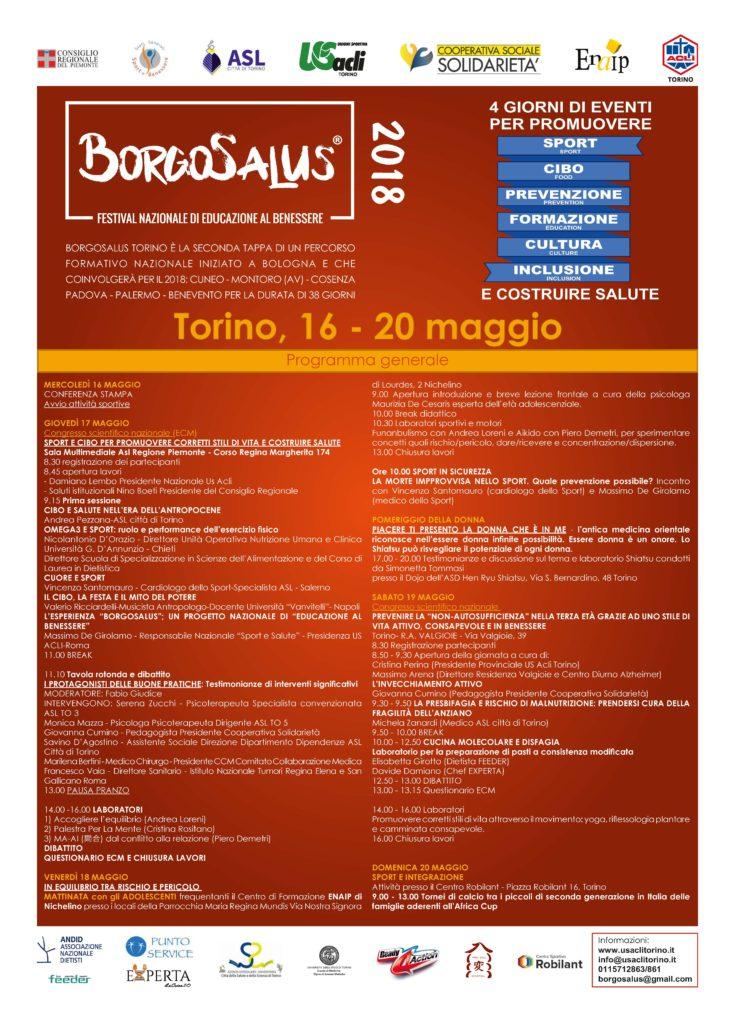 Borgosalus Torino 5 Giornate Dedicate Allo Salute E Allo Sport Us Acli Torino